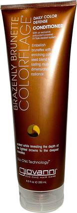 Giovanni, ColorFlage, Daily Color Defense Conditioner, Brazenly Brunette, 8.5 fl oz (250 ml) 洗澡,美容,護髮素,頭髮,頭皮,洗髮水,護髮素