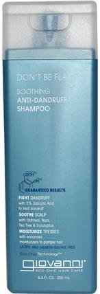 Dont Be Flaky, Soothing Anti-Dandruff Shampoo, 8.5 fl oz (250 ml) by Giovanni, 洗澡,美容,洗髮水,水楊酸 HK 香港
