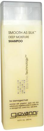 Smooth As Silk, Deep Moisture Shampoo, 8.5 fl oz (250 ml) by Giovanni, 洗澡,美容,洗髮水,頭髮,頭皮,護髮素 HK 香港