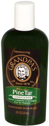 Grandpas, Conditioner, Wonder Pine Tar, 8 fl oz (237 ml) 洗澡,美容,牛皮癬和濕疹,牛皮癬,護髮素