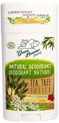 Natural Deodorant, Tea Tree, 1.76 oz (50 g) by Green Beaver, 洗澡,美容,除臭劑 HK 香港