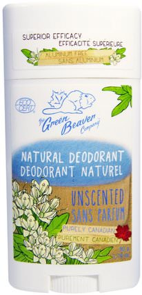 Natural Deodorant, Unscented, 1.76 oz (50 g) by Green Beaver, 洗澡,美容,除臭劑 HK 香港