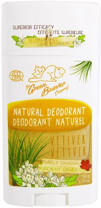 Natural Deodorant, Vetiver, 1.76 oz (50 g) by Green Beaver, 洗澡,美容,除臭劑 HK 香港