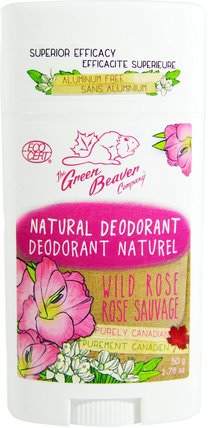 Natural Deodorant, Wild Rose, 1.76 oz (50 g) by Green Beaver, 洗澡,美容,除臭劑 HK 香港
