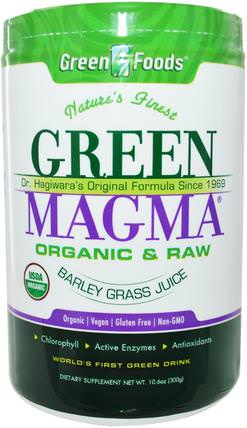 Green Magma, Barley Grass Juice, 10.6 oz (300 g) by Green Foods Corporation, 補品,超級食品,大麥草 HK 香港