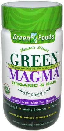 Green Magma, Barley Grass Juice, 2.8 oz (80 g) by Green Foods Corporation, 補品,超級食品,大麥草 HK 香港