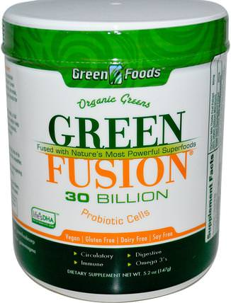 Green Foods Corporation, Organic Green Fusion, 5.2 oz (147 g) 補品,超級食品