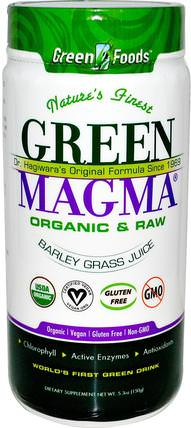 Green Magma, Barley Grass Juice, 5.3 oz (150 g) by Green Foods Corporation, 補品,超級食品,大麥草 HK 香港
