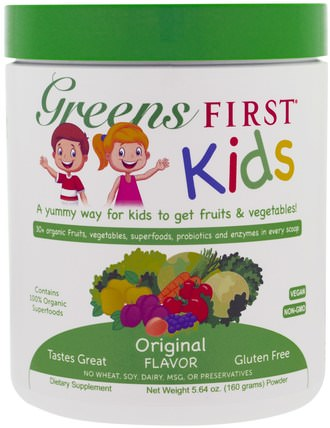Kids, Superfood Antioxidant Shake, Original, 5.64 oz (160 g) by Greens First, 補充劑,抗氧化劑,兒童健康 HK 香港