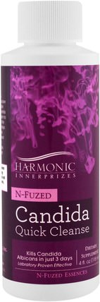 N-Fuzed Candida Quick Cleanse, 4 fl oz (118 ml) by Harmonic Innerprizes, 健康,念珠菌 HK 香港