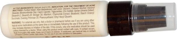 健康,粉刺,皮膚型痘痘皮膚,美容,水楊酸 - Zion Health, Acne Terminator, 1 oz (30 ml)