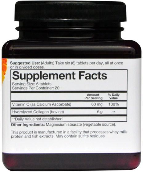 健康,骨骼,骨質疏鬆症,膠原蛋白類型i和iii - Youtheory, Collagen, 120 Tablets