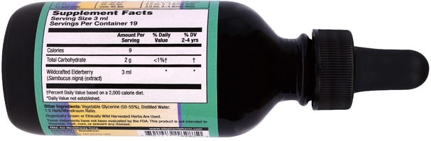 健康,感冒流感和病毒,免疫系統,兒童健康,兒童補品 - Herbs for Kids, Immune Support, Sweet Elderberry, 2 fl oz (59 ml)
