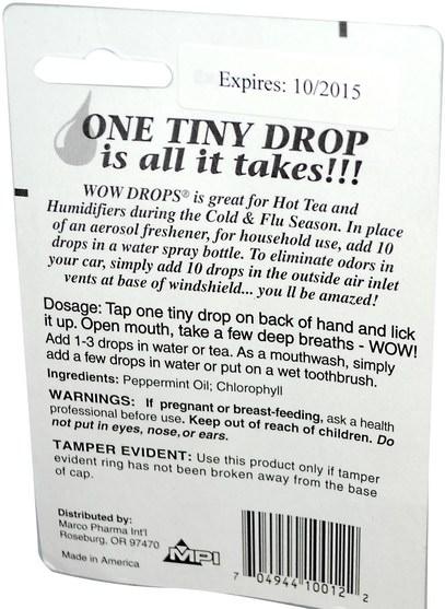 健康,感冒流感和病毒,喉嚨護理噴霧,咳嗽滴 - Wow, Wow Drops, 0.338 fl oz (10 ml)