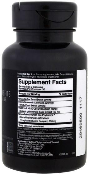 健康,飲食,補品 - DaVinci Benefits, Adipo-Leptin Benefits, 60 Capsules