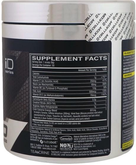 健康,能量,運動 - Cellucor, C4 Extreme Energy, Pre-Workout, Cherry Limeade, 15.9 oz (450 g)