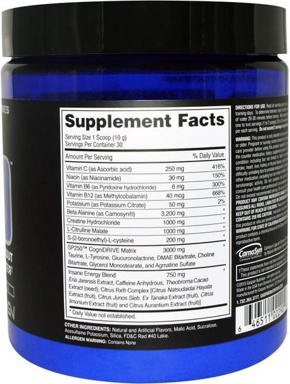 健康,能量,運動,鍛煉 - Gaspari Nutrition, SP250, Pre-Workout, Fruit Punch, 10.6 oz (300 g)