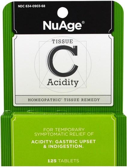 健康 - Hylands, NuAge, Tissue C Acidity, 125 Tablets