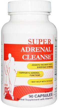 Step 5, 90 Capsules by Health Plus Super Adrenal Cleanse, 補充劑,腎上腺支持 HK 香港