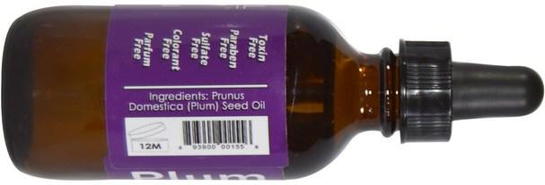 健康,皮膚,沐浴,美容油,身體護理油 - Russell Organics, French Plum Oil, 2 fl oz (60 ml)