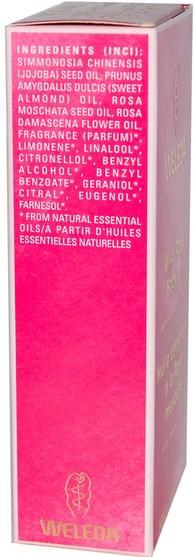 健康,皮膚,按摩油,沐浴,美容,香薰精油,玫瑰精油 - Weleda, Body Oil, Wild Rose, 3.4 fl oz (100 ml)