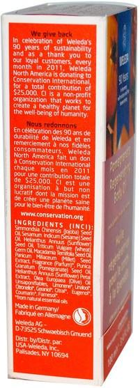 健康,皮膚,按摩油 - Weleda, Pomegranate Regenerating Body Oil, 3.4 fl oz (100 ml)