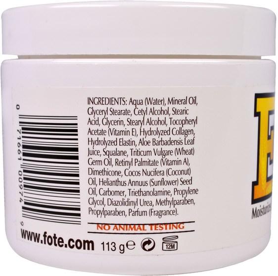 健康,皮膚,維生素E油霜 - Fruit of the Earth, Vitamin E, Skin Care Cream, 4 oz (113 g)