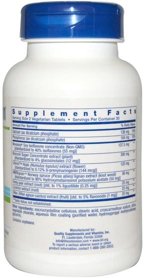 健康,女性,更年期 - Life Extension, Natural Estrogen, 60 Veggie Tabs