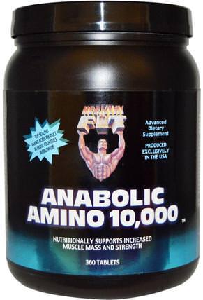Healthy N Fit, Anabolic Amino 10.000, 360 Tablets 補充劑,氨基酸,氨基酸組合,合成代謝補品