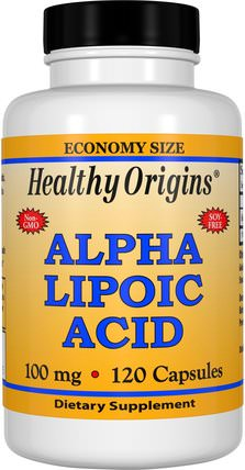 Alpha Lipoic Acid, 100 mg, 120 Capsules by Healthy Origins, 補充劑,抗氧化劑,α硫辛酸,α硫辛酸100毫克 HK 香港