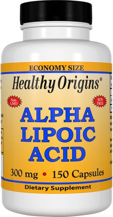 Alpha Lipoic Acid, 300 mg, 150 Capsules by Healthy Origins, 補充劑,抗氧化劑,α硫辛酸,α硫辛酸300毫克 HK 香港