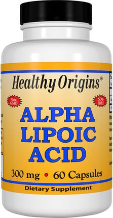 Alpha Lipoic Acid, 300 mg, 60 Capsules by Healthy Origins, 補充劑,抗氧化劑,α硫辛酸,α硫辛酸300毫克 HK 香港