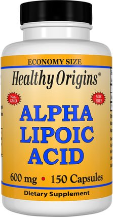 Alpha Lipoic Acid, 600 mg, 150 Capsules by Healthy Origins, 補充劑,抗氧化劑,α硫辛酸,α硫辛酸600毫克 HK 香港