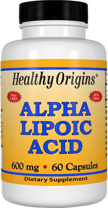 Alpha Lipoic Acid, 600 mg, 60 Capsules by Healthy Origins, 補充劑,抗氧化劑,α硫辛酸,α硫辛酸600毫克 HK 香港