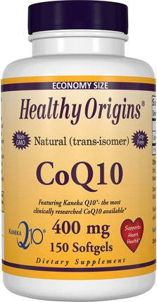 CoQ10, Kaneka Q10, 400 mg, 150 Softgels by Healthy Origins, 補充劑,輔酶q10,coq10 400毫克 HK 香港