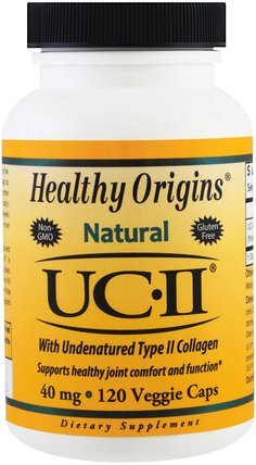 Natural, UC-II with Undenatured Type II Collagen, 40 mg, 120 Veggie Caps by Healthy Origins, 健康,骨骼,骨質疏鬆症,膠原蛋白,關節健康 HK 香港