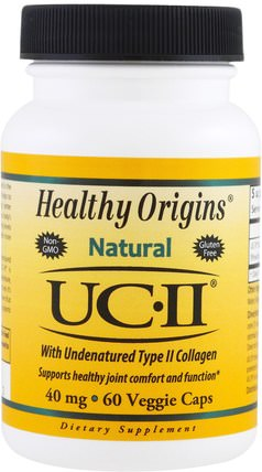 Natural, UC-II with Undenatured Type II Collagen, 40 mg, 60 Veggie Caps by Healthy Origins, 健康,骨骼,骨質疏鬆症,膠原蛋白,關節健康 HK 香港