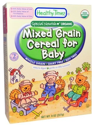 Organic Cereal for Baby, Mixed Grain, 8 oz (227 g) by Healthy Times, 兒童健康,嬰兒餵養,嬰兒穀物,兒童食品 HK 香港