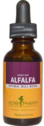 Alfalfa, Whole Leaf, 1 fl oz (29.6 ml) by Herb Pharm, 草藥,苜蓿 HK 香港