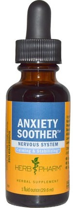 Anxiety Soother, 1 fl oz (29.6 ml) by Herb Pharm, 健康,焦慮 HK 香港