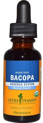 Bacopa, Whole Herb, 1 fl oz (30 ml) by Herb Pharm, 草藥,bacopa(brahmi) HK 香港