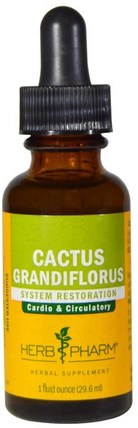 Cactus Grandiflorus, 1 fl oz (29.6 ml) by Herb Pharm, 健康,血糖,胭脂仙人掌(仙人掌仙人掌) HK 香港