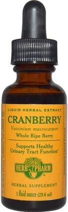 Herb Pharm, Cranberry, 1 fl oz (29.6 ml) 草藥,蔓越莓
