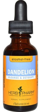 Dandelion, Alcohol-Free, 1 fl oz (30 ml) by Herb Pharm, 草藥,蒲公英根 HK 香港