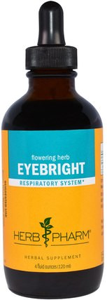 Eyebright, 4 fl oz (120 ml) by Herb Pharm, 草藥,小米草 HK 香港