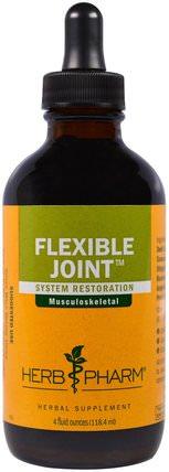 Flexible Joint, 4 fl oz (118.4 ml) by Herb Pharm, 健康,骨骼,骨質疏鬆症,關節健康 HK 香港