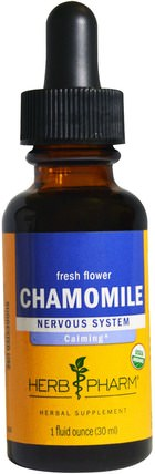 Organic Chamomile, 1 fl oz (30 ml) by Herb Pharm, 草藥,洋甘菊 HK 香港