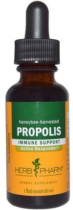 Propolis, 1 fl oz (30 ml) by Herb Pharm, 補充劑,蜂產品,蜂膠 HK 香港