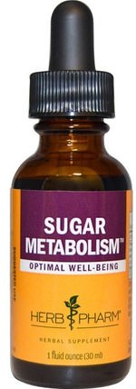 Sugar Metabolism, 1 fl oz (30 ml) by Herb Pharm, 健康,血糖 HK 香港