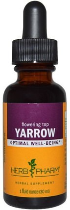 Yarrow, Flowering Top, 1 fl oz (30 ml) by Herb Pharm, 草藥,蓍草花(achillea millefolium wilhelmsii) HK 香港